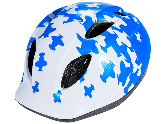 MET Super Buddy Cykelhjälm Barn blå/vit